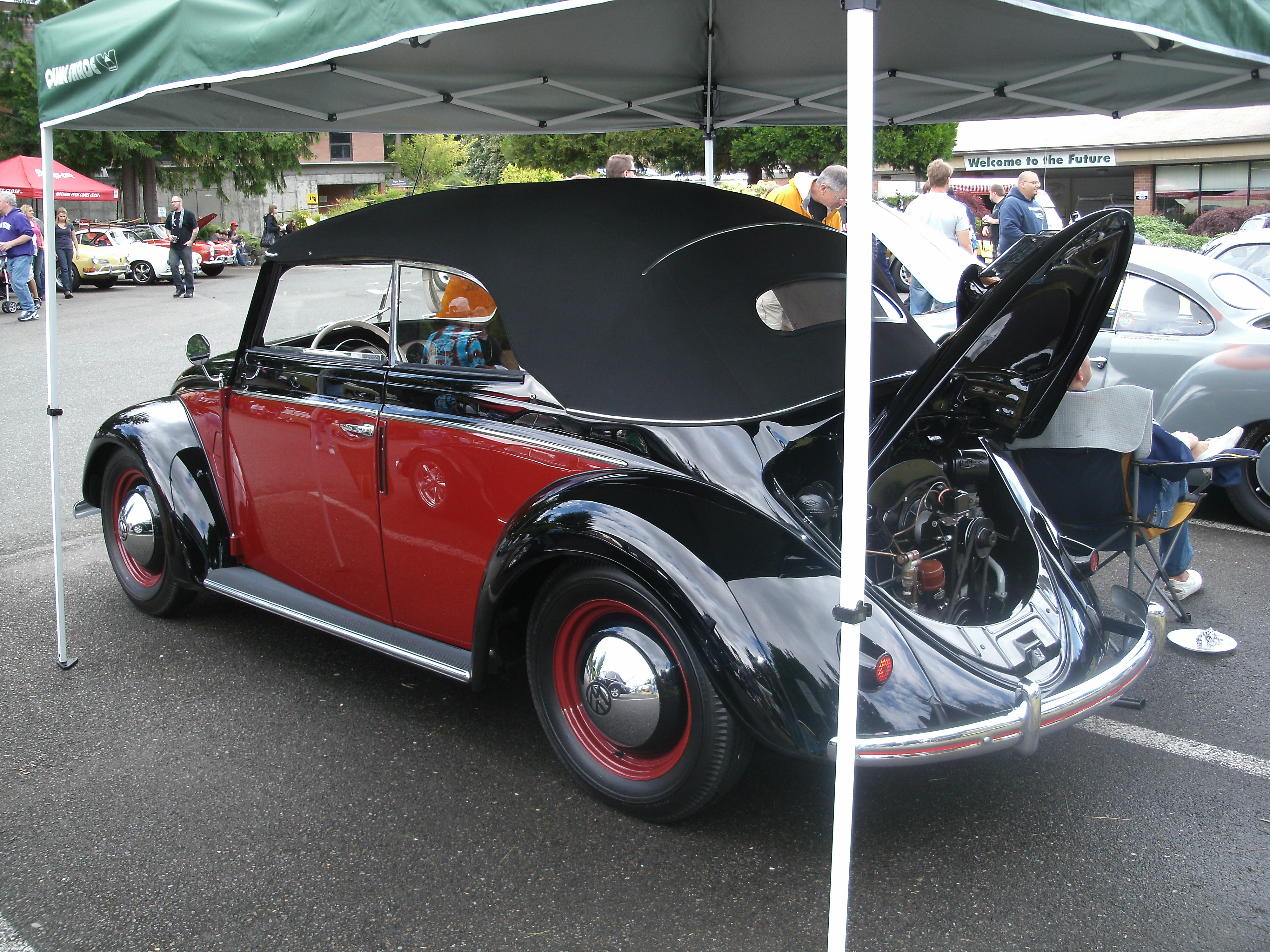 Dustin Howell's rare 1952 Volkswagen cabriolet was a restrained example of the air-cooled Beetle, save for a two-tone paint job that wasn't standard in '52.